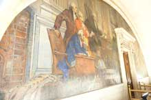 mural painting on wall of County Courthouse