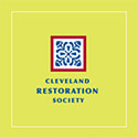yellow square with Cleveland Restoration Society centered