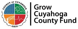 a circle split into four colored quadrants with Grow Cuyahoga County Fund to the right
